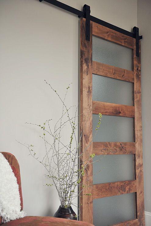 & 5 Panel Acrylic Barn Door