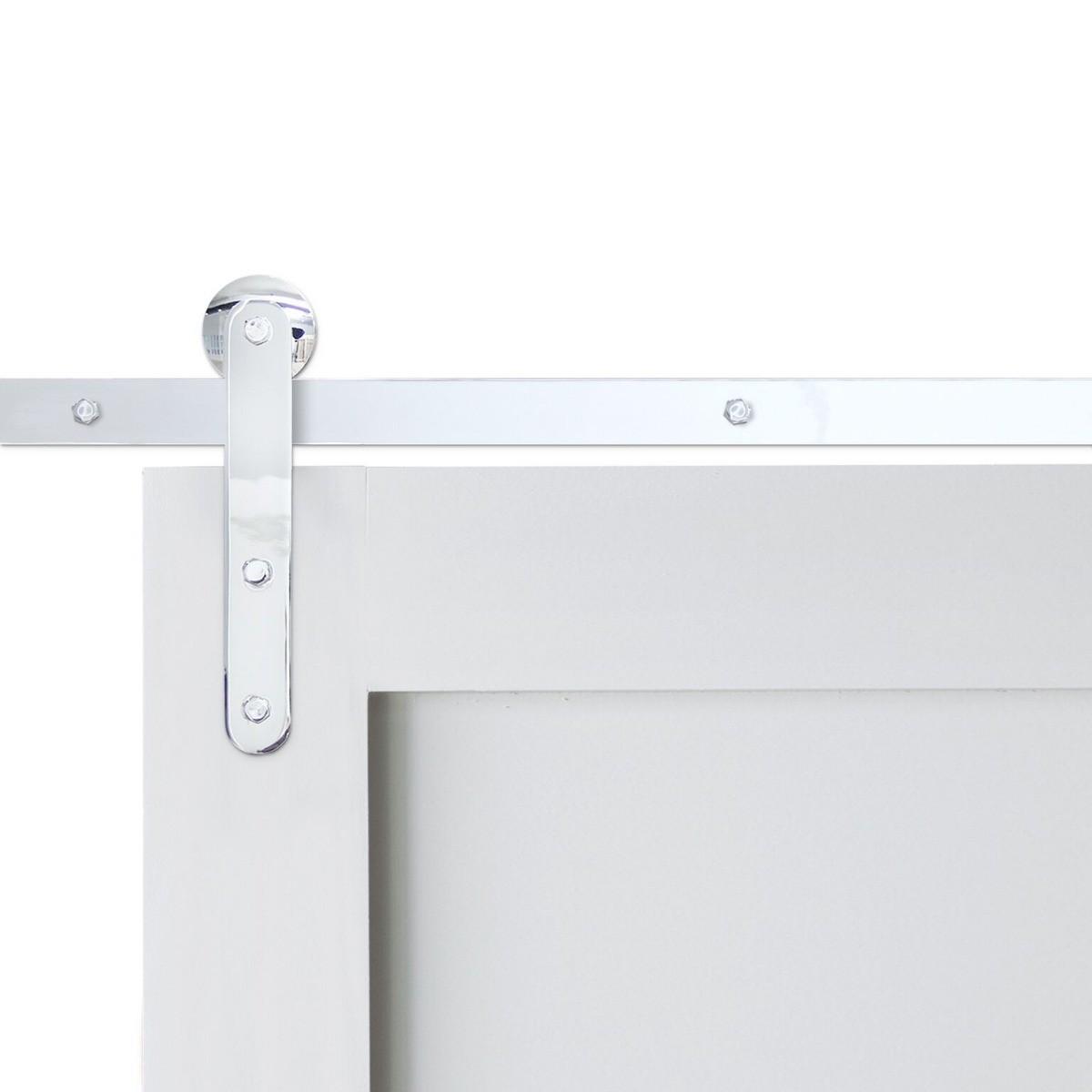 Pinnacle Chrome Barn Door Hardware