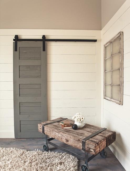 Classic sliding barn door hardware