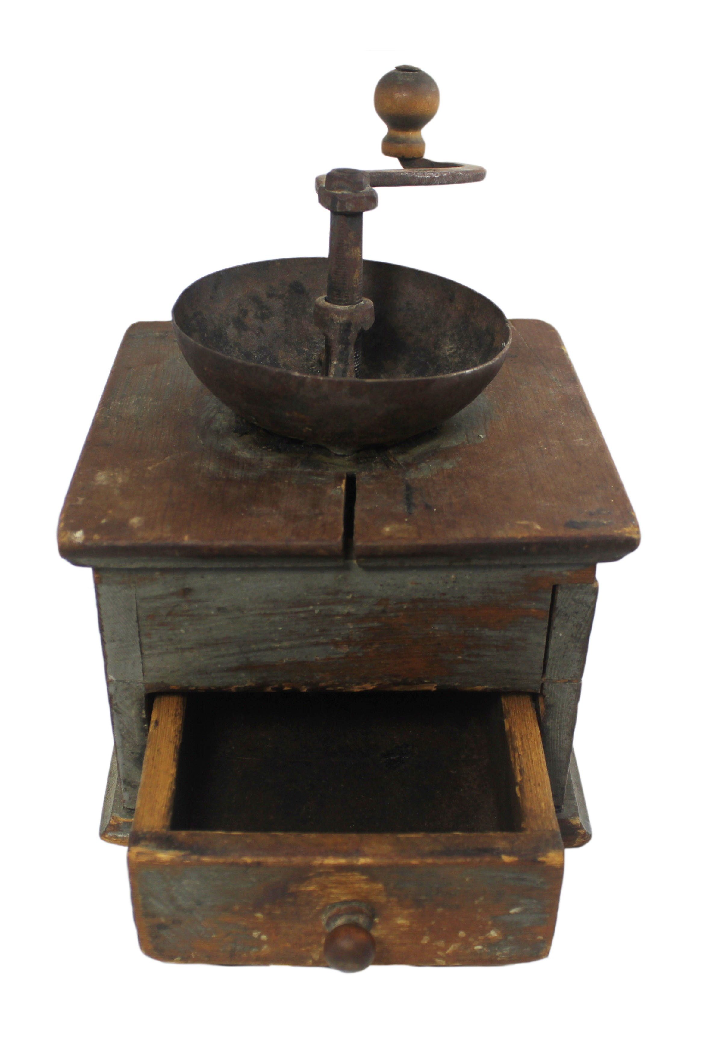 Old Coffee Grinders ~ Antique coffee grinder with drawer