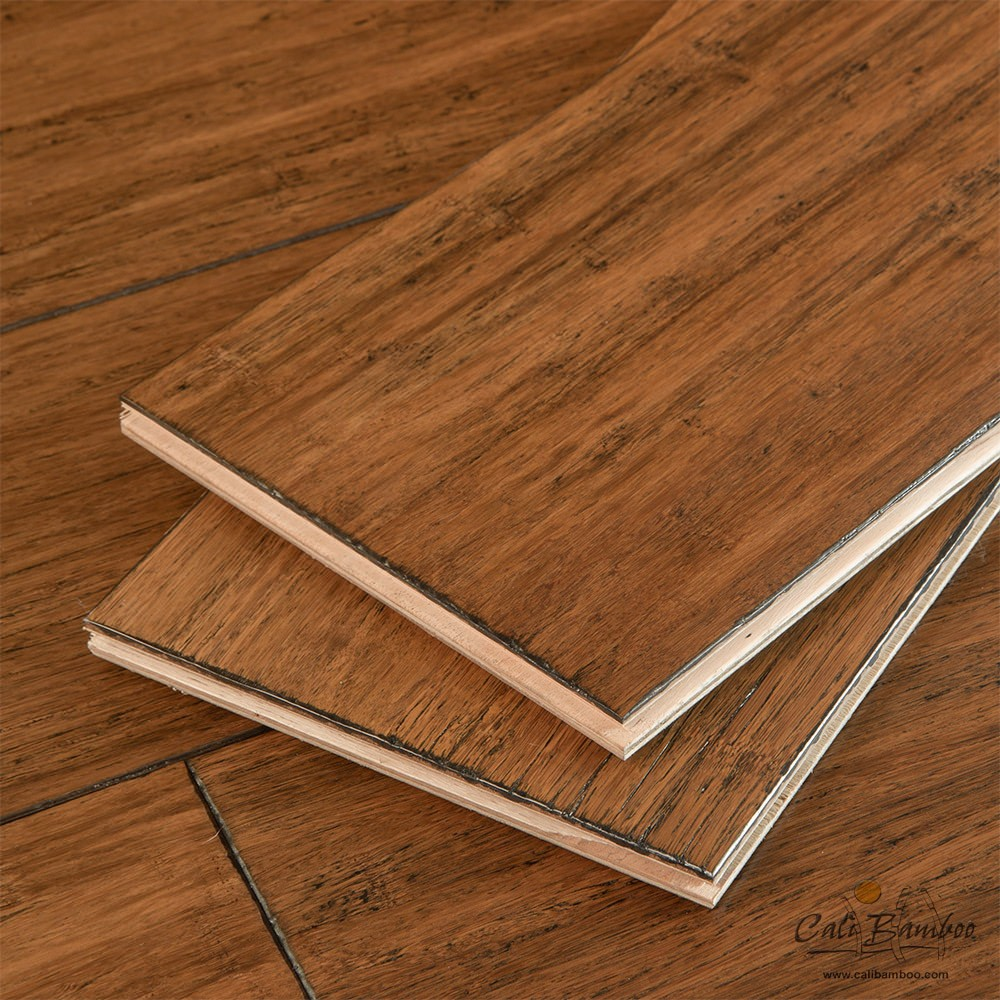 Cali bamboo eco engineered flooring antique java fossilized for Eco bamboo flooring