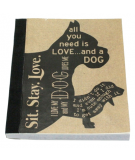 Recycled Paper Journal Mans Best Friend
