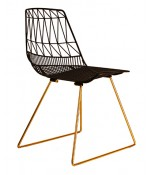 Bend Goods Black & Gold Lucy Chair