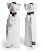 Reusable Wine Bag With Traveling Tag - Wood Grain