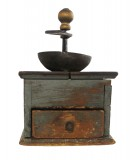 Antique Coffee Grinder With Drawer