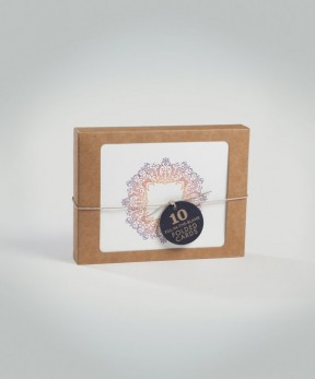 10 Fill In Gypsy Frame Recycled Note Cards