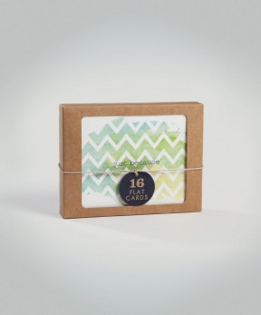 16 Watercolor Recycled Card Sets